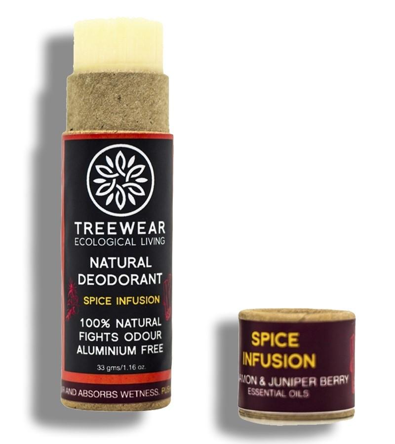Treewear + deodorant + Natural Deodorant Stick - Spice Infusion + 33 gm + shop