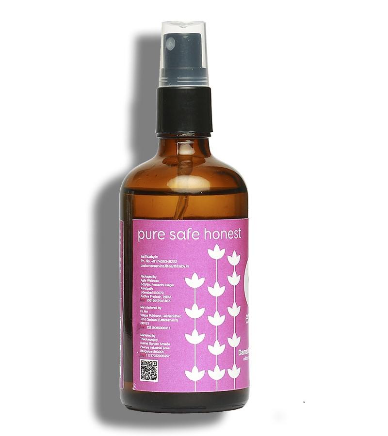 earthBaby + toners + mists + 100% Natural origin Damask Rose Water + 100 ml + shop