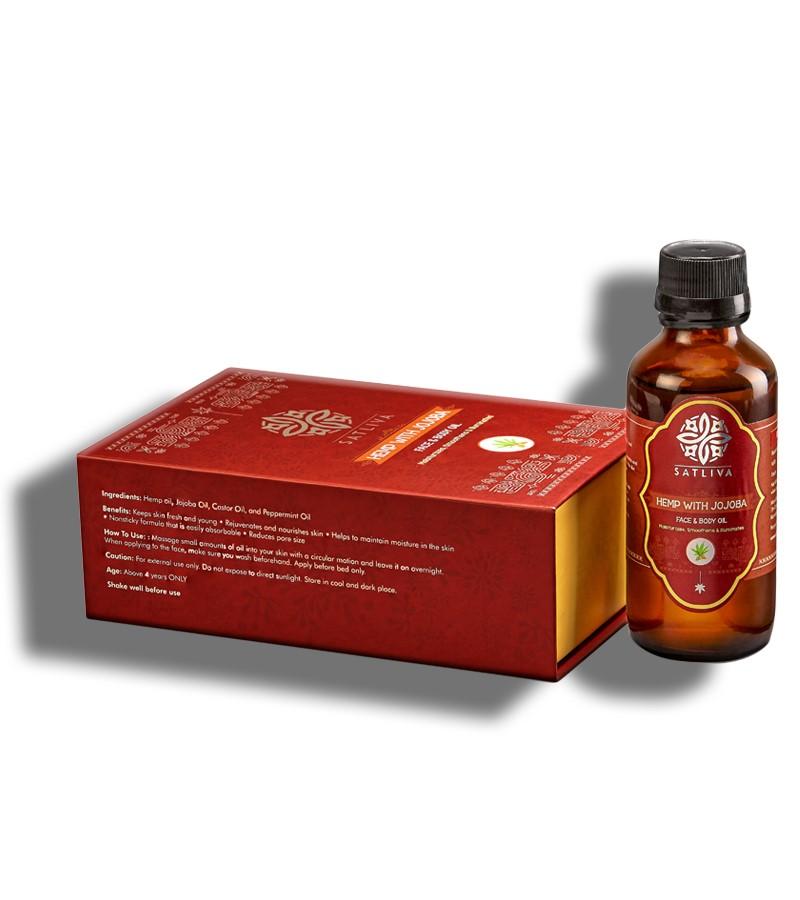 Satliva + face oils + Hemp with Jojoba Face and Body Oil + 100 ml + shop