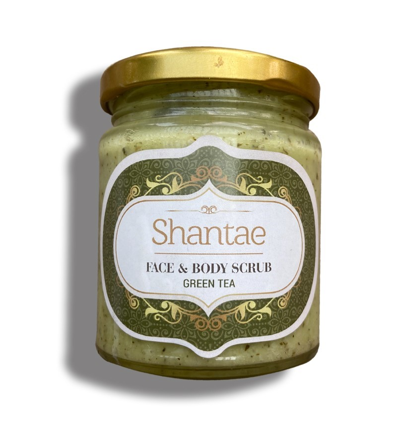 Shantae + body scrubs & exfoliants + Shantae Face and Body Scrub Green Tea + 200 gm + buy