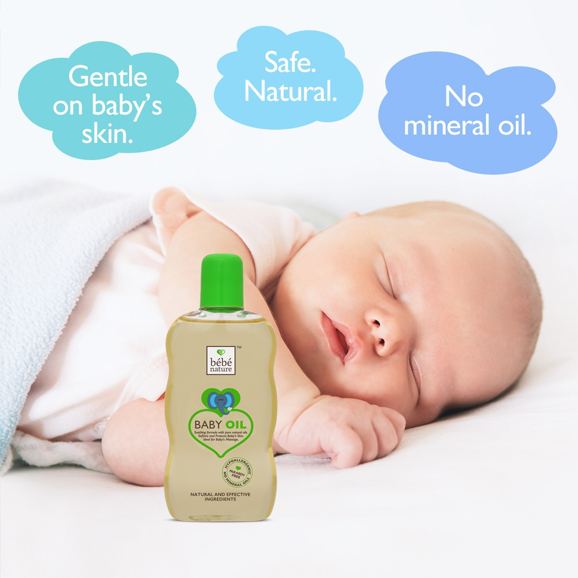 Bebe Nature + baby oils & creams + Bebe Nature Natural Baby Massage Oil with Sweet Almond Oil & Natural Vitamin E + 120 ml + online