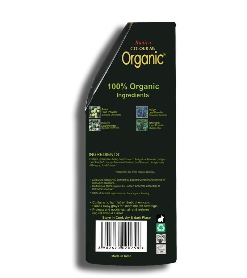 Radico + hair colour + Certified Organic Hair Color Dye - Blonde Shades + Darkest Ash Blonde (100 gm) + shop