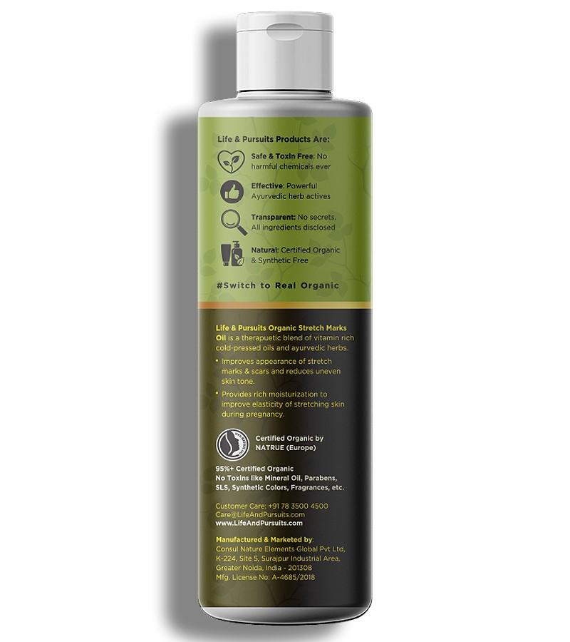 Life & Pursuits + mama creams & oils + Organic Stretch Marks Oil + 100 ml + shop