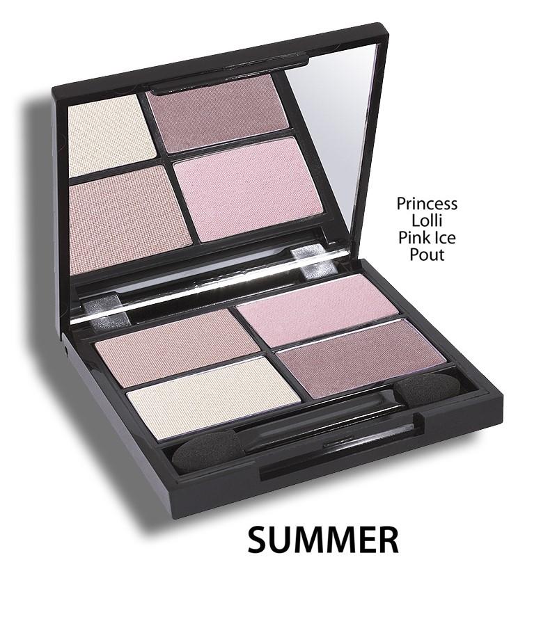 Zuii Organic + eyes + Flora Eyeshadow QUAD Pallet + Summer + buy