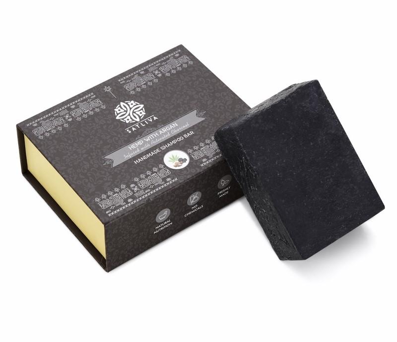 Satliva + shampoo + dry shampoo + Hemp with Argan & Activated Charcoal Shampoo Bar + 100 gm + deal
