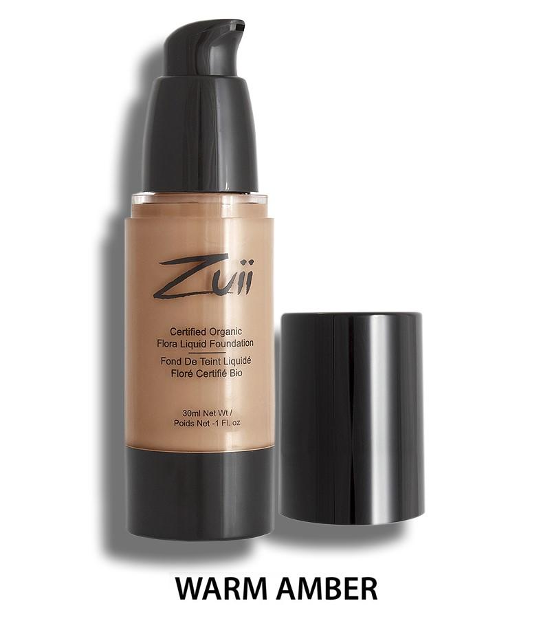 Zuii Organic + face + Liquid Foundation + Warm Amber (30 ml) + buy