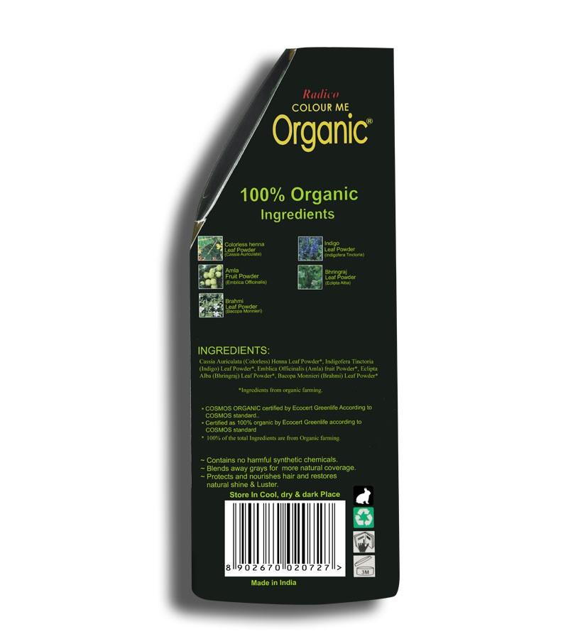 Radico + hair colour + Certified Organic Hair Color Dye - Blonde Shades + Ash Blonde (100 gm) + shop