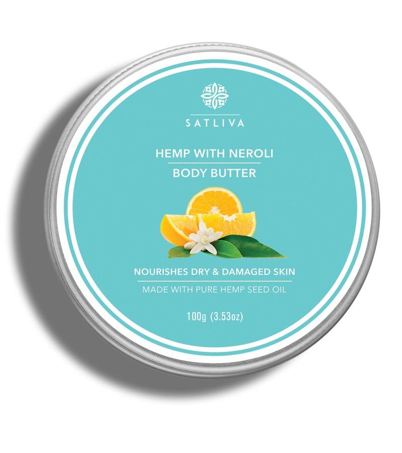 Satliva + body butters + creams + Hemp with Neroli body butter + 100g + buy