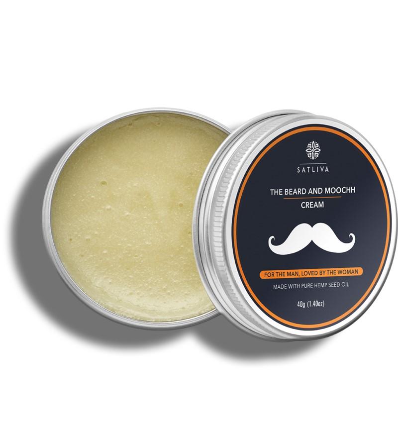 Satliva + beard + Beard N Moochh Cream + 40 gm + shop