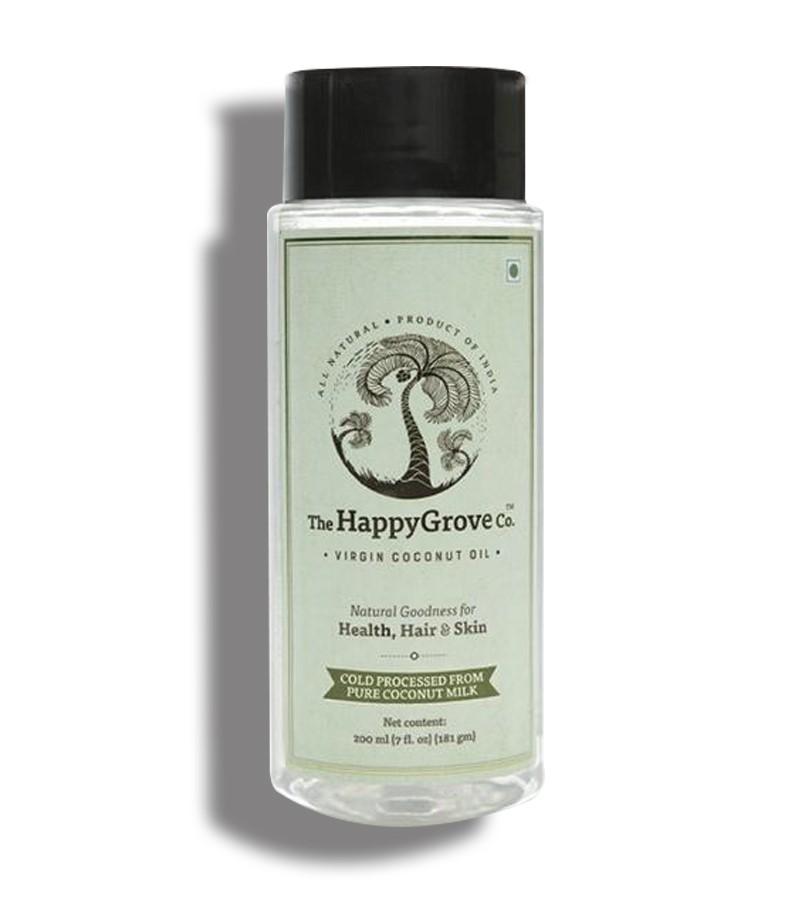 The Happy grove + hair oil + serum + The Happygrove Co. Extra Virgin Coconut Oil, 200 Ml + 200 ml + buy