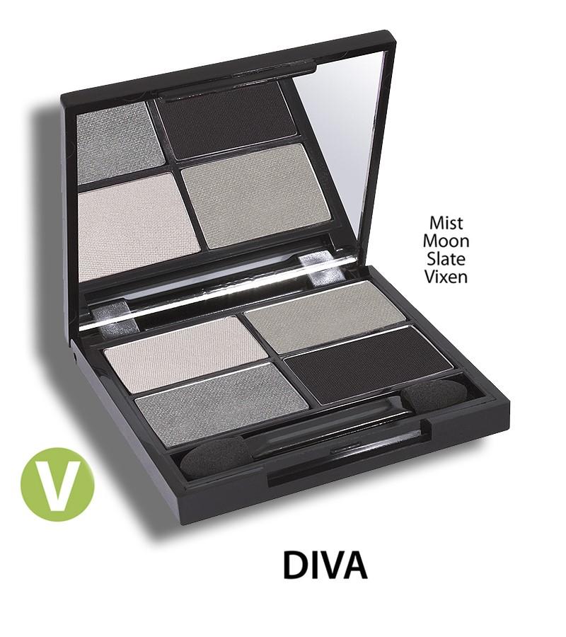 Zuii Organic + eyes + Flora Eyeshadow QUAD Pallet + Diva + buy