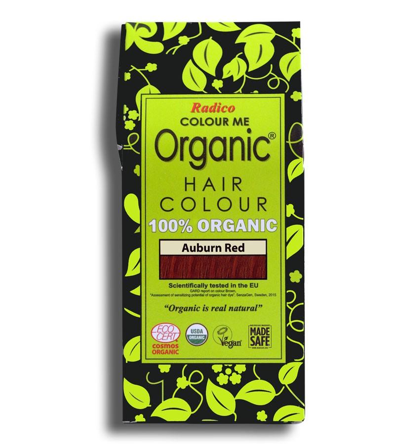 Radico + hair colour + Certified Organic Hair Color Dye - Red Shades + Auburn Red (100 gm) + buy