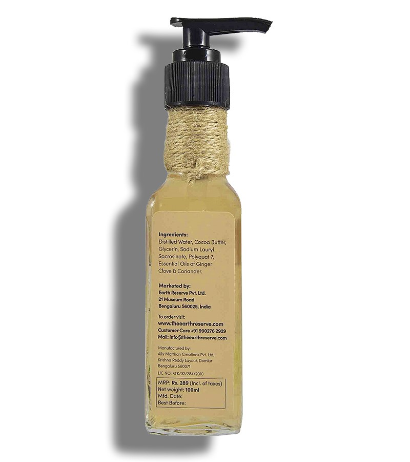 The Earth Reserve + shower gel + body wash + Earthy Blends Infused Shower Gel + 100 ml + shop