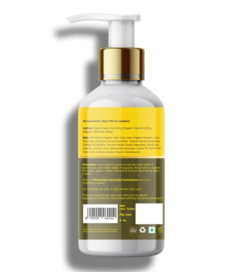 Life & Pursuits + baby bath & shampoo + Natural Nourishing Baby Body Wash + 200ml + discount