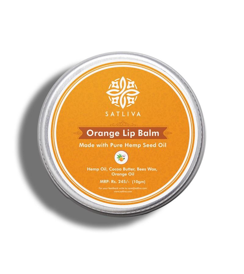 Satliva + lip balms & butters + Orange Lip Balm + 10 gm + buy