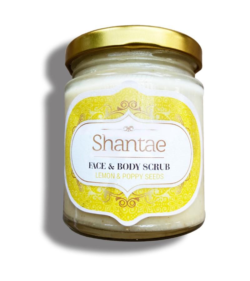 Shantae + body scrubs & exfoliants + Face and Body Scrub Lemon and Poppy Seeds + 200 gm + buy