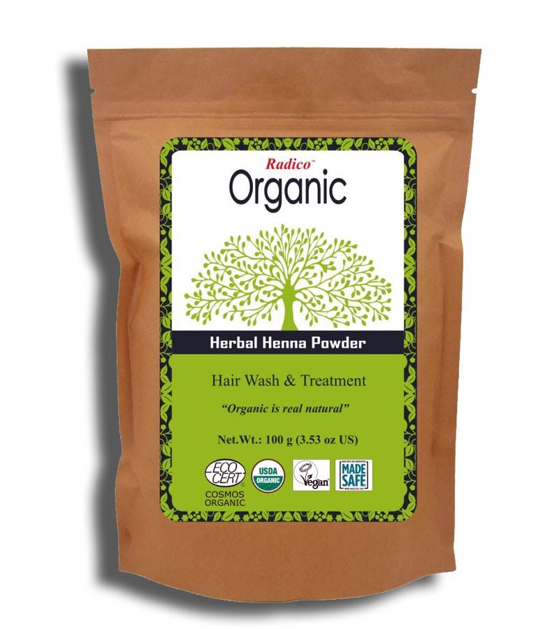 Radico + hair masks + Certified Organic Herbal Henna Powder + 100 gm + buy