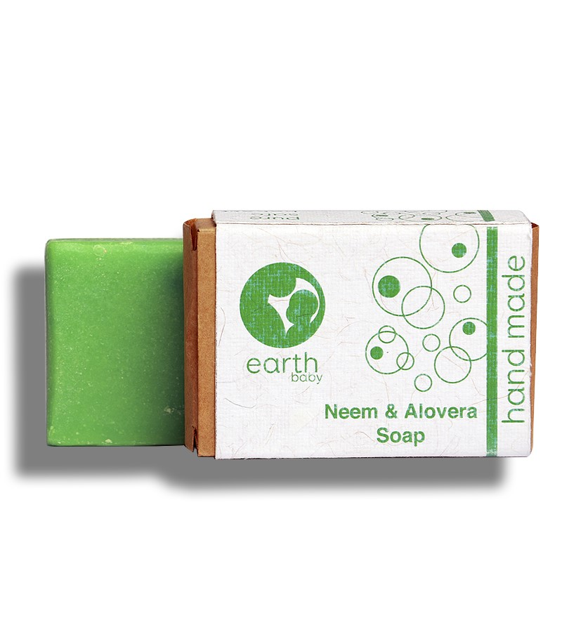 earthBaby + baby bath & shampoo + Neem & Aloevera Handmade Soap + 100 gm + shop