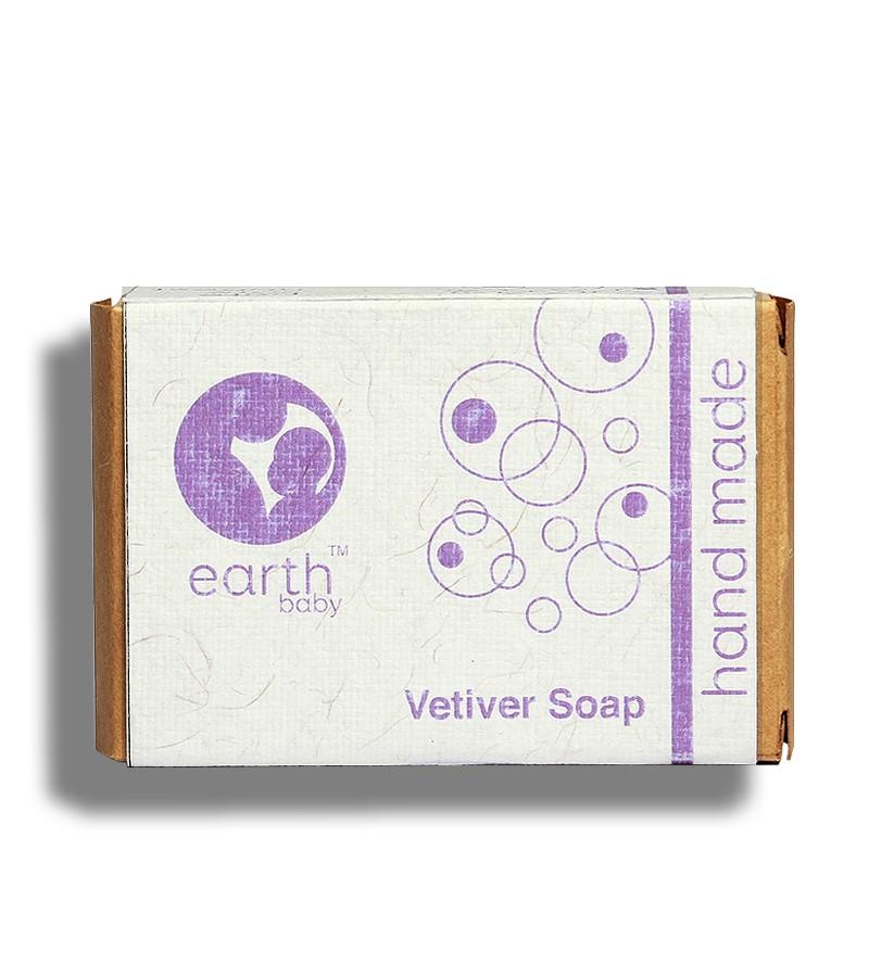 earthBaby + baby bath & shampoo + Vetiver Handmade Soap + 100 gm + buy