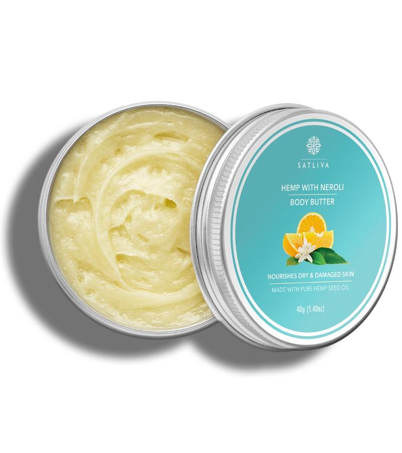 Satliva + body butters + creams + Hemp with Neroli body butter + 40g + buy