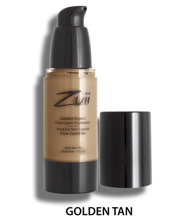 Zuii Organic + face + Liquid Foundation + Golden Tan (30 ml) + buy