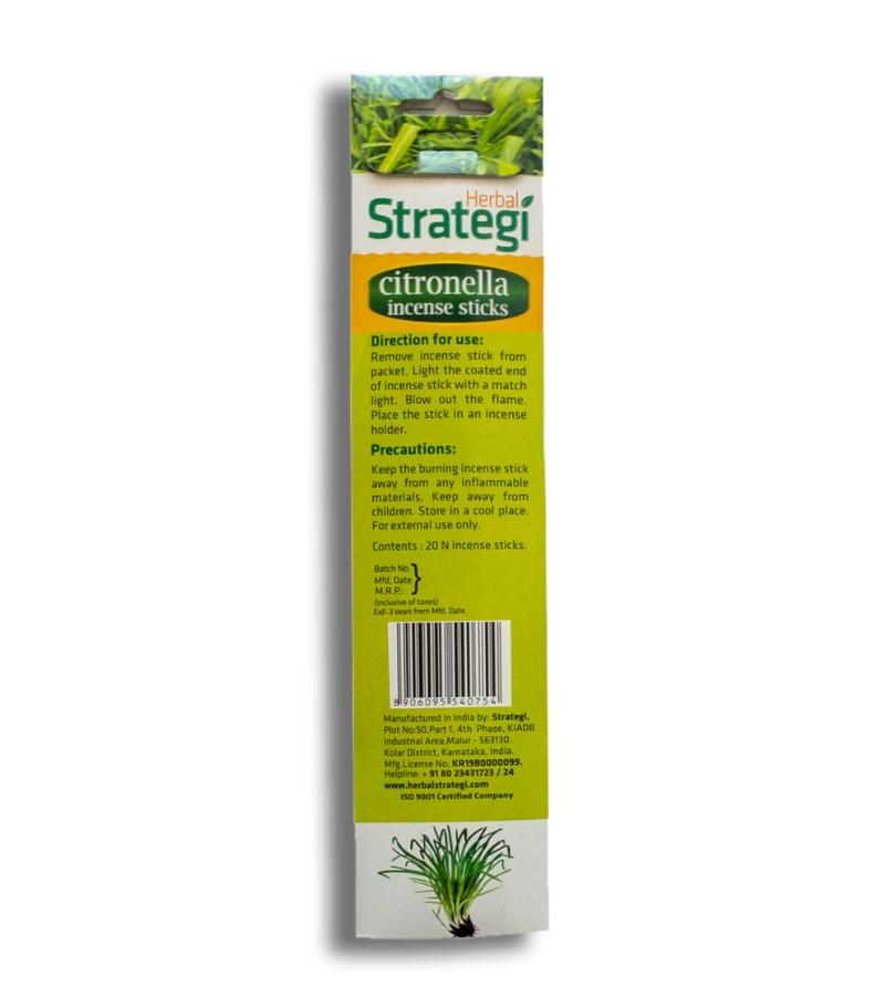 Herbal Strategi + incense sticks + Aromatic Incense Sticks (min qty 5) + Citronella + shop