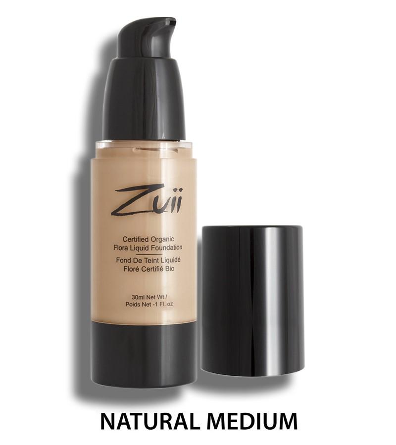 Zuii Organic + face + Liquid Foundation + Natural Medium (30 ml) + buy