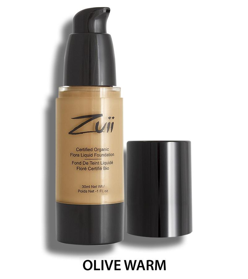 Zuii Organic + face + Liquid Foundation + Warm Olive (30 ml) + buy