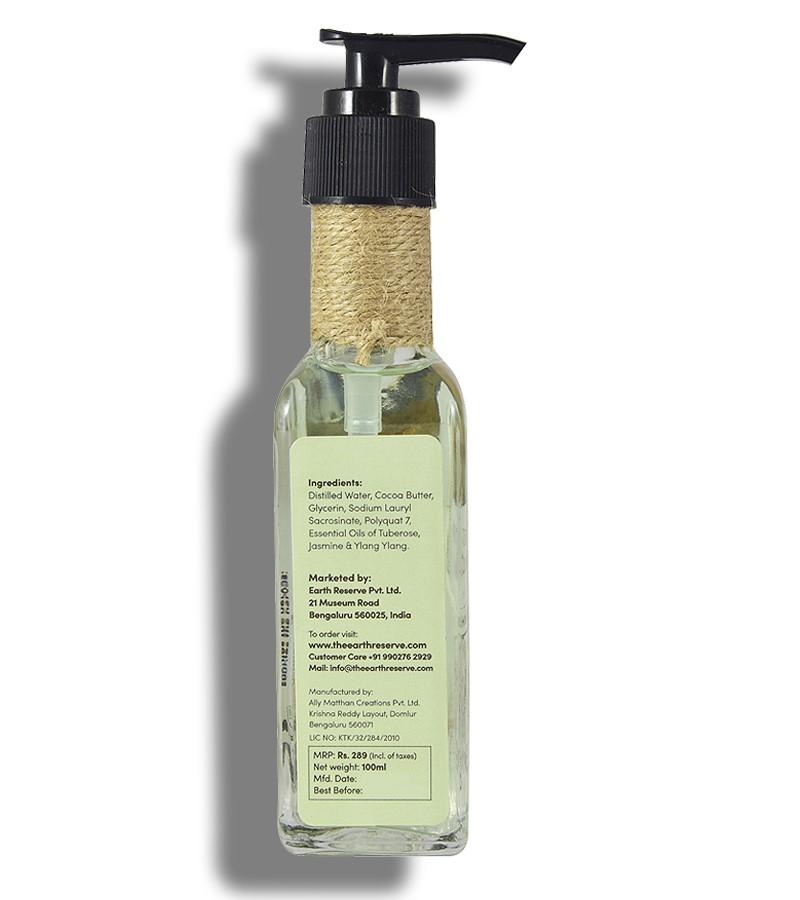 The Earth Reserve + shower gel + body wash + Earthy Blends Infused Shower Gel + Tuberose & Ylang Ylang + shop