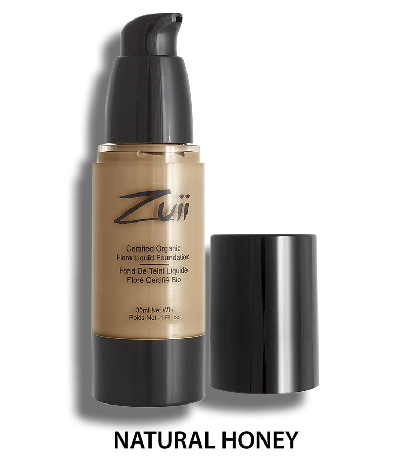 Zuii Organic + face + Liquid Foundation + Natural Honey (30 ml) + buy