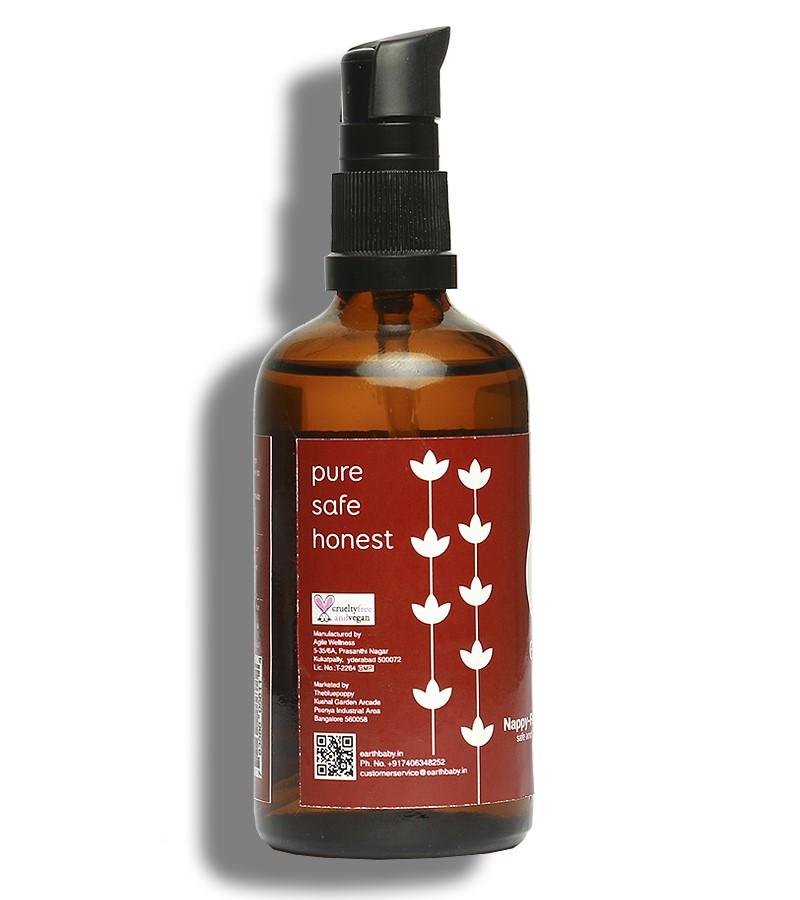 earthBaby + baby oils & creams + Nappy Rash Protection Oil 99.9% Certified Natural Origin + 100 ml + shop