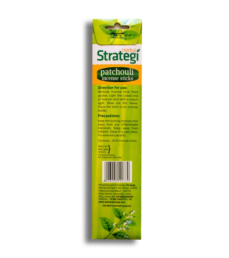 Herbal Strategi + incense sticks + Aromatic Incense Sticks (min qty 5) + Patchouli + buy