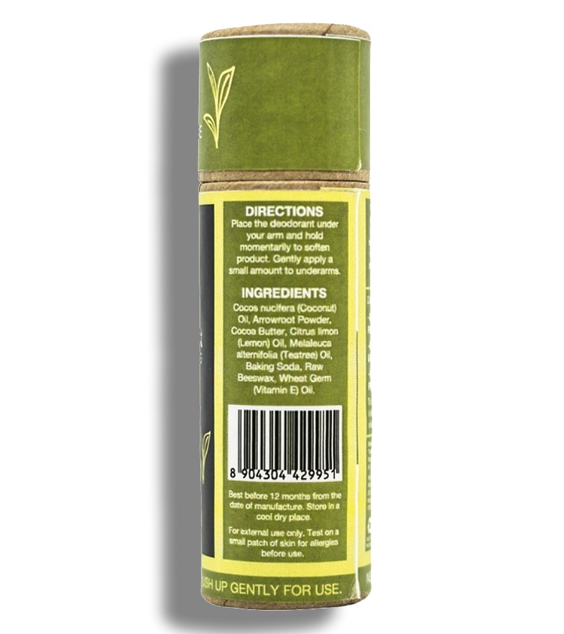 Treewear + deodorant + Natural Deodorant Stick - Citrus Burst + 33 gm + discount