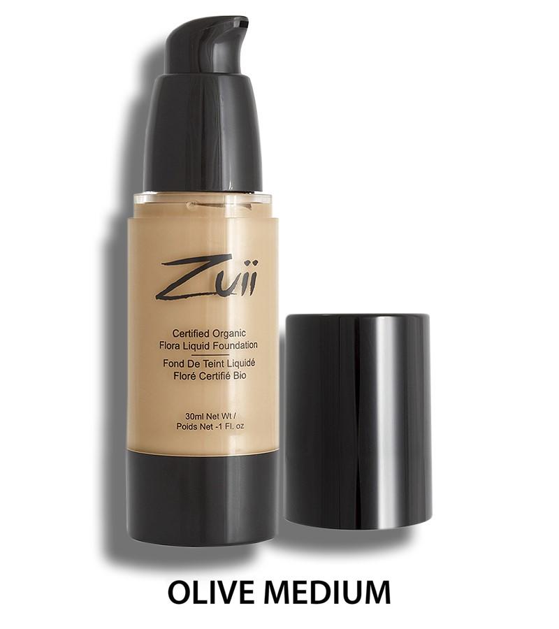 Zuii Organic + face + Liquid Foundation + Olive Medium (30 ml) + buy