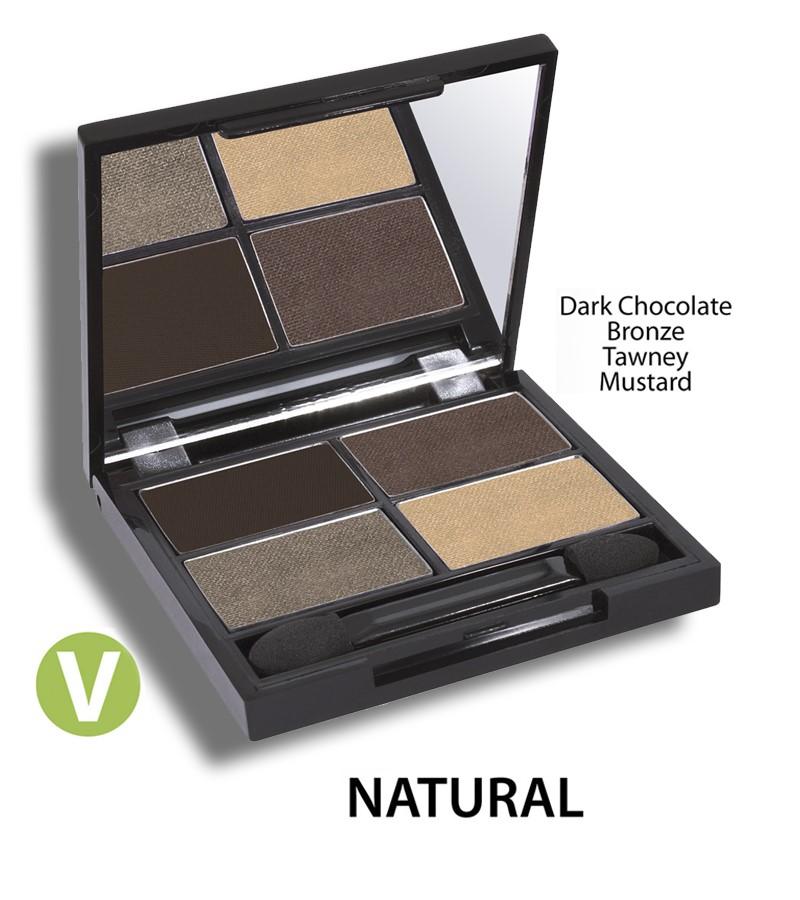 Zuii Organic + eyes + Flora Eyeshadow QUAD Pallet + Natural + buy