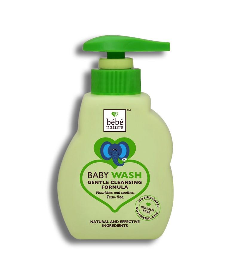 Bebe Nature + baby bath & shampoo + Bebe Nature Natural Baby Wash Gentle Cleansing Formula (Tear Free) + 260 ml + buy