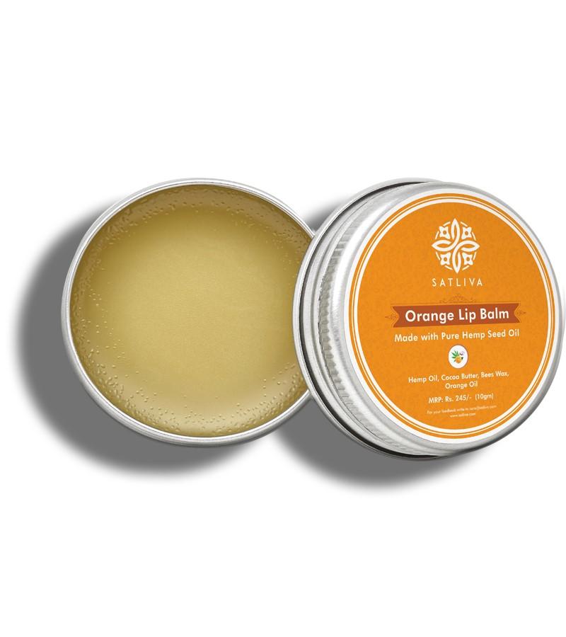 Satliva + lip balms & butters + Orange Lip Balm + 10 gm + shop