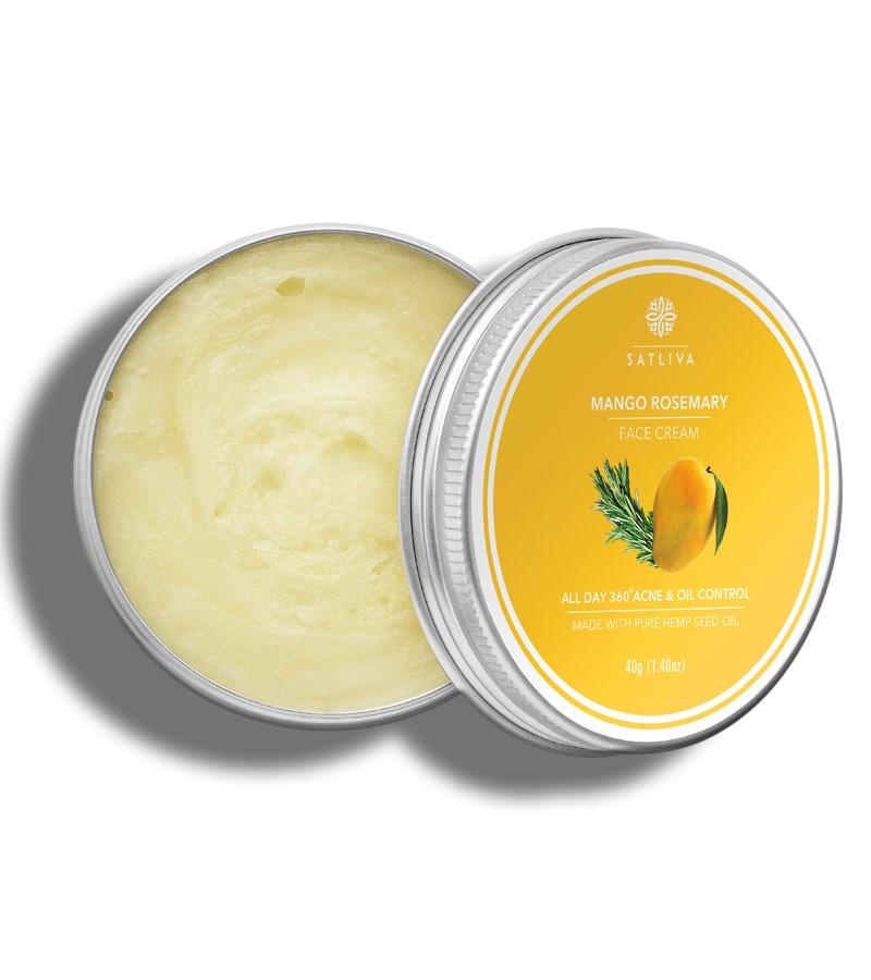 Satliva + face serums + creams + Mango Rosemary Face Cream + 40g + shop