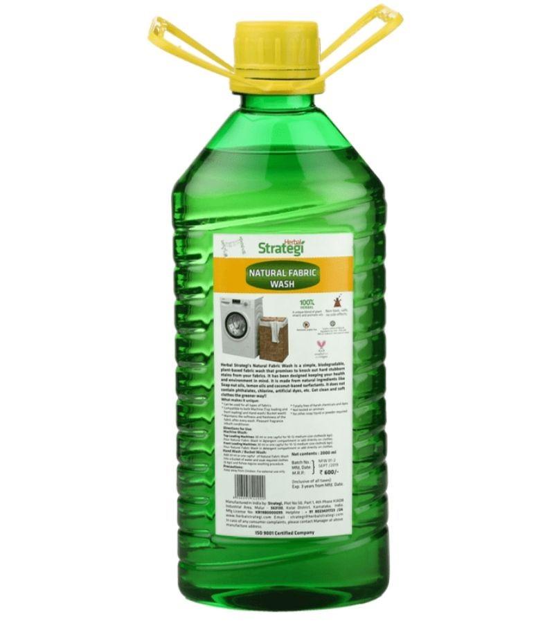 Herbal Strategi + laundry + fabric cleaners + Natural Fabric Wash + 2000 ml + buy