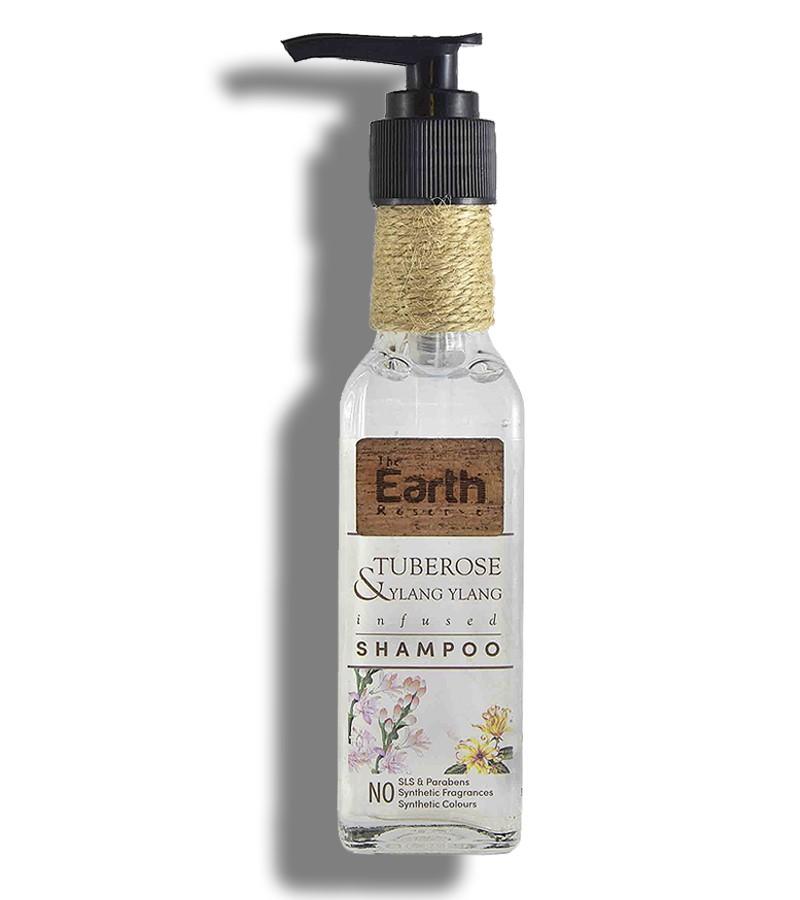 The Earth Reserve + shampoo + dry shampoo + Earthy Blends Infused Shampoo + Tuberose & Ylang Ylang + buy